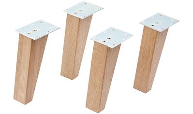 FACKELMANN Möbelfuß 4 Stück, aus Holz kaufen