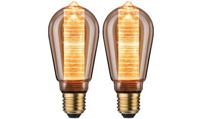 Paulmann »2er Pack 4W Innenkolben ring E27 gold 1800K« LED - Leuchtmittel, E27, Extra - Warmweiß kaufen