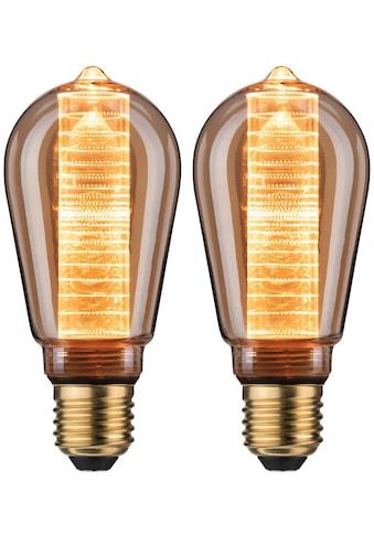 Paulmann LED-Leuchtmittel »2er Pack 4W Innenkolben ring E27 gold 1800K«, E27, 2 St.,... kaufen