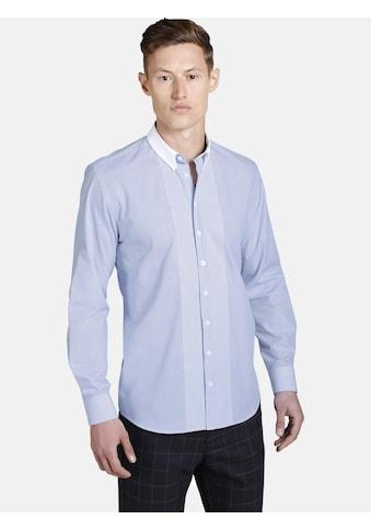 SHIRTMASTER Langarmhemd »whysoblue«, mit aufgesetztem Kragen kaufen