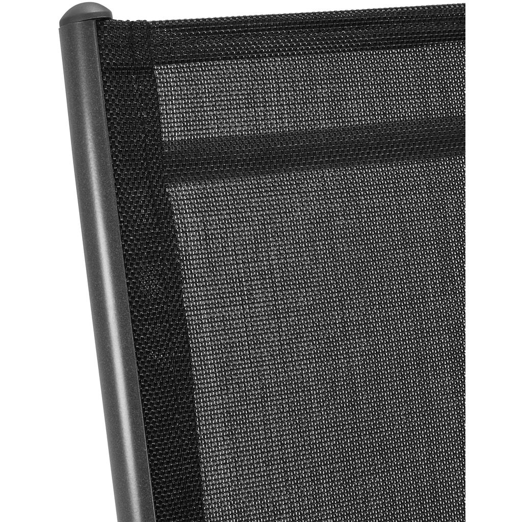 KONIFERA Gartenmöbelset »Oslo«, 13-tlg., 6 Hochlehner, Tisch150x90 cm, Alu/Textil
