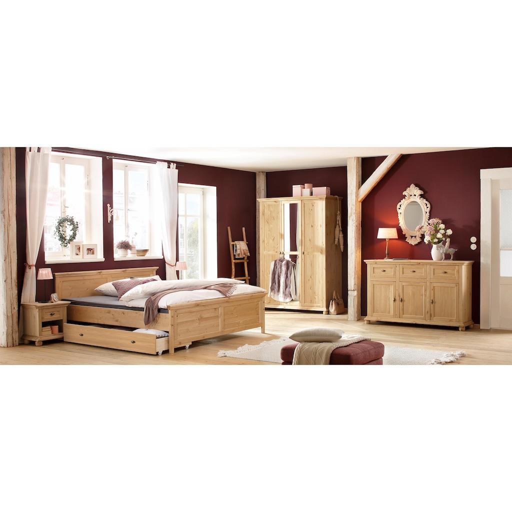 Home affaire Nachtkonsole »Irena«, aus Massivholz, in zwei verschiedenen Farben, mit einer Schublade, Breite 50 cm