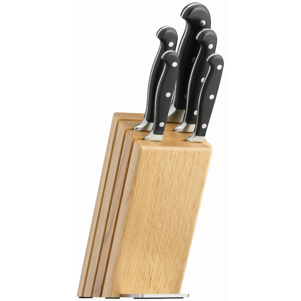 WMF Messerblock »Spitzenklasse Plus«, 6 tlg., Messerklingen aus Spezialklingenstahl