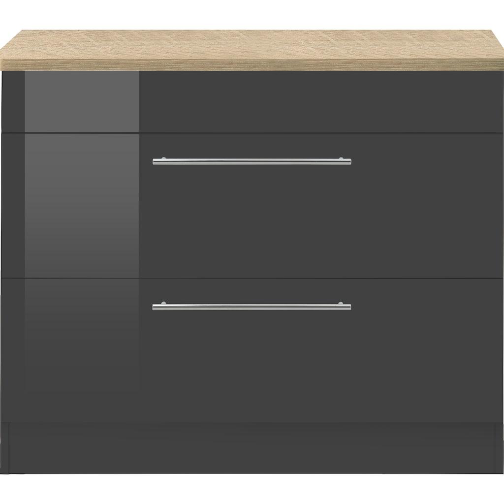 HELD MÖBEL Unterschrank »Wien«, 100 cm breit, auch als Kochfeldumbauschrank nutzbar