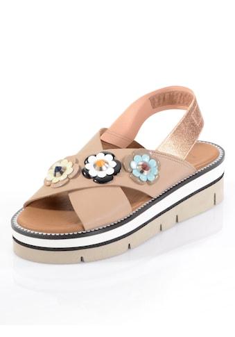 Alba Moda Sandalette mit Blumen im Retro-Stil kaufen