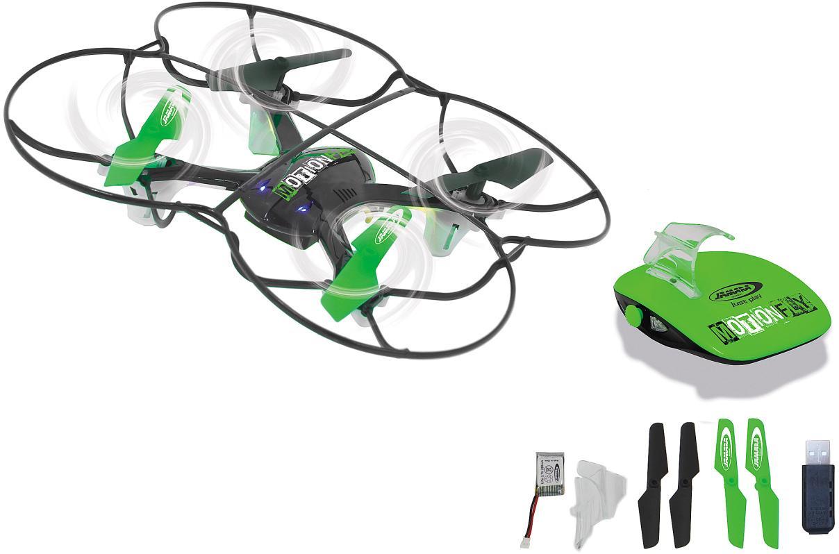 Jamara RC-Quadrocopter RC MotionFly Quadrocopter, mit LED-Beleuchtung schwarz Kinder Ab 9-11 Jahren Altersempfehlung Fernlenkfahrzeuge