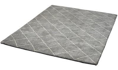 Dekowe Wollteppich »Kamil«, rechteckig, 25 mm Höhe, Rauten Design, reine Wolle, Wohnzimmer kaufen