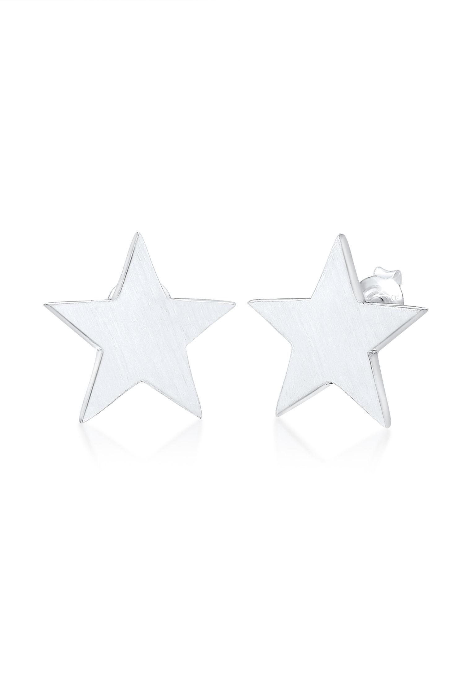 Elli Paar Ohrstecker Ohrstecker Sterne Matt Astro Basic 925er Silber | Schmuck > Ohrschmuck & Ohrringe > Ohrstecker | Elli