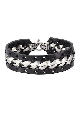 NOX Armband »Leder schwarz Edelstahl matt«, Lederband kaufen