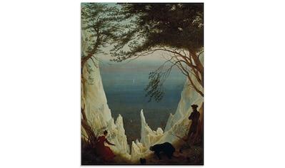 Artland Glasbild »Die Kreidefelsen von Rügen. 1818/1819.«, Felsen, (1 St.) kaufen