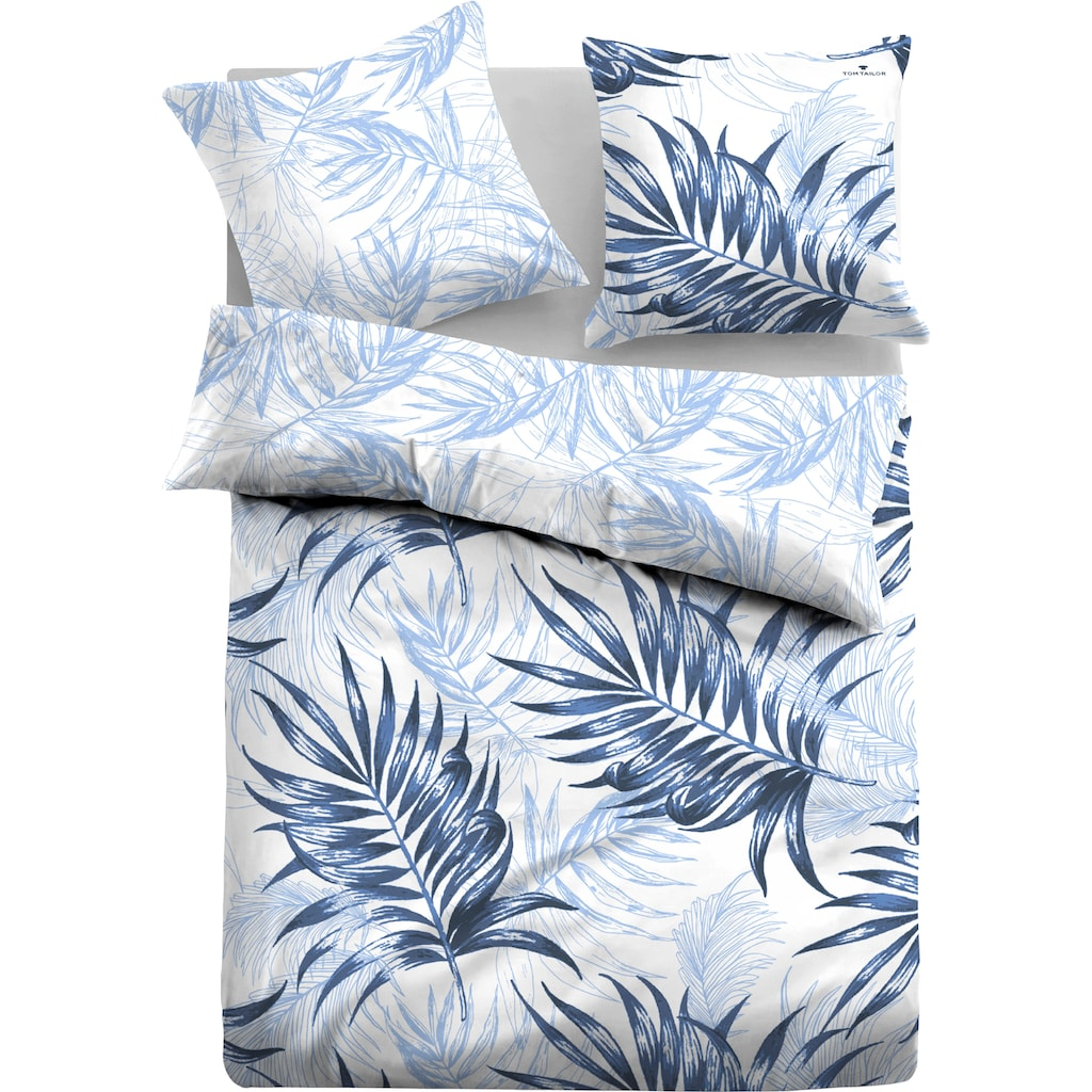 TOM TAILOR Wendebettwäsche »Emmy«, mit tollen Palmenblättern
