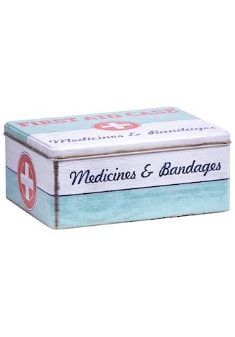 ZELLER Aufbewahrungsbox »First Aid Case  -  groß«, L/B/H: 21 x 16,6 x 8,5 cm, im Vintage - Look kaufen