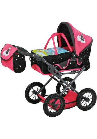 """Knorrtoys® Puppenwagen """"Nici, Theodor Carbon mit Wickeltasche, Ruby"""" kaufen"""