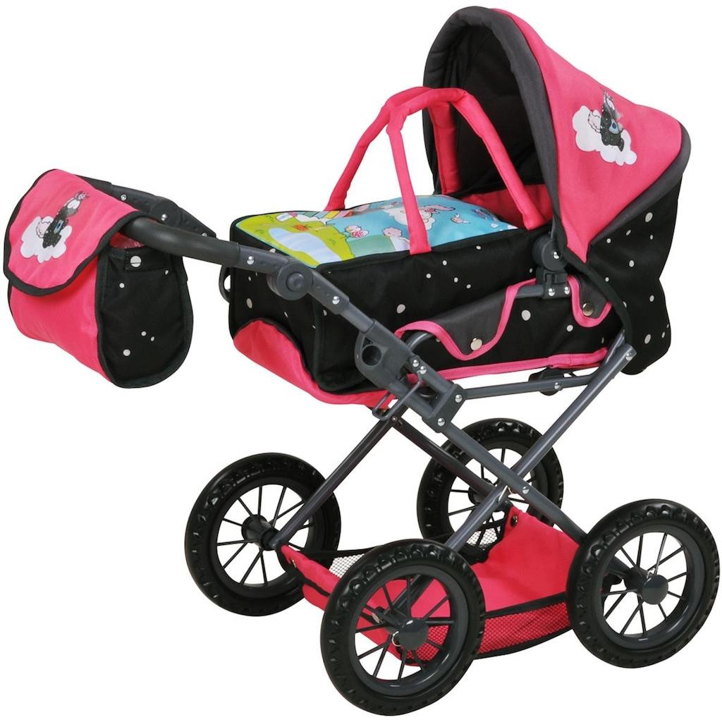 Knorrtoys® Puppenwagen »Nici, Theodor Carbon mit Wickeltasche, Ruby«