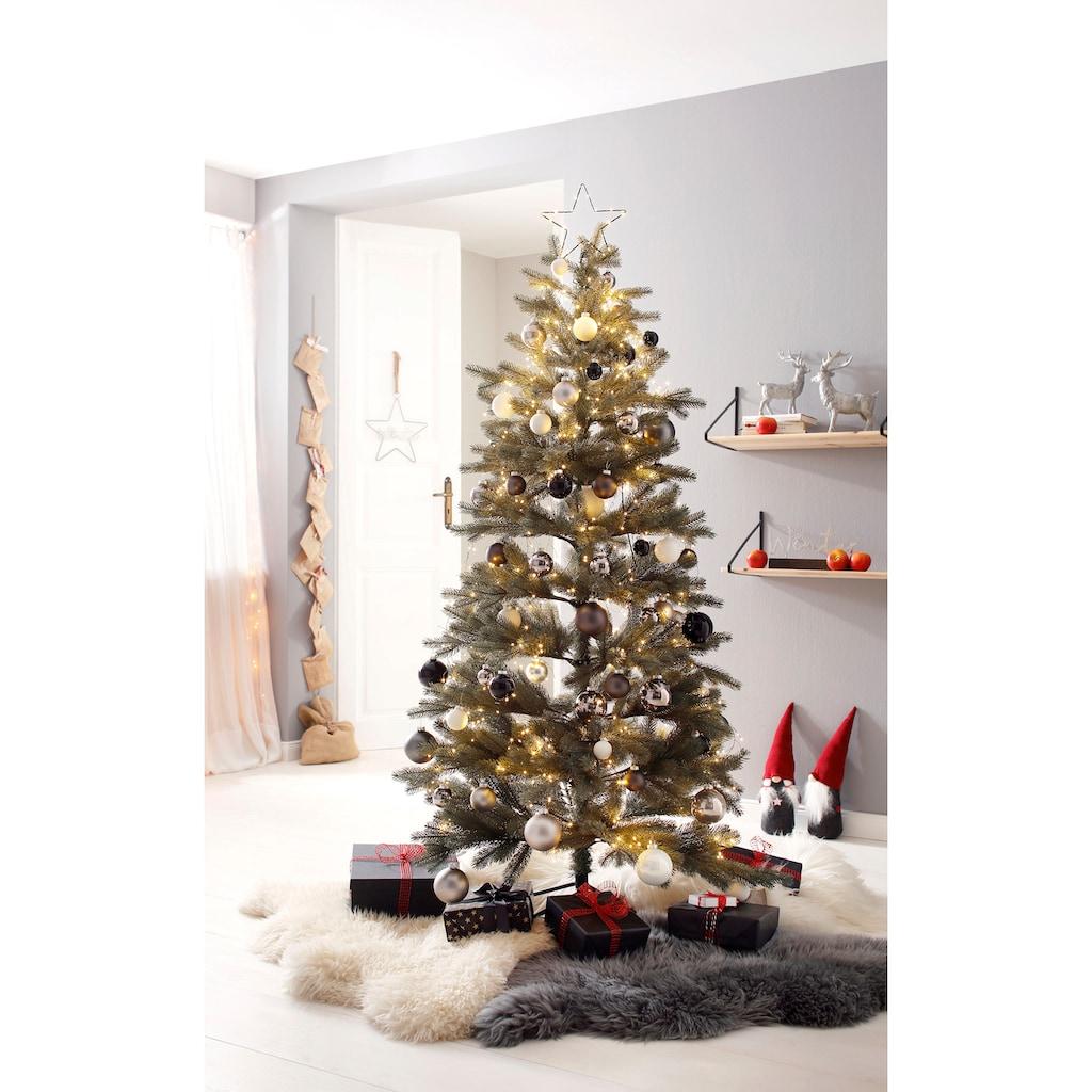 Künstlicher Weihnachtsbaum »Grey/Green«, mit Metallständer und biegsamen Zweigen