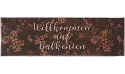 Läufer, »Willkommen auf Balkonien«, HANSE Home, rechteckig, Höhe 5 mm, maschinell gewebt kaufen