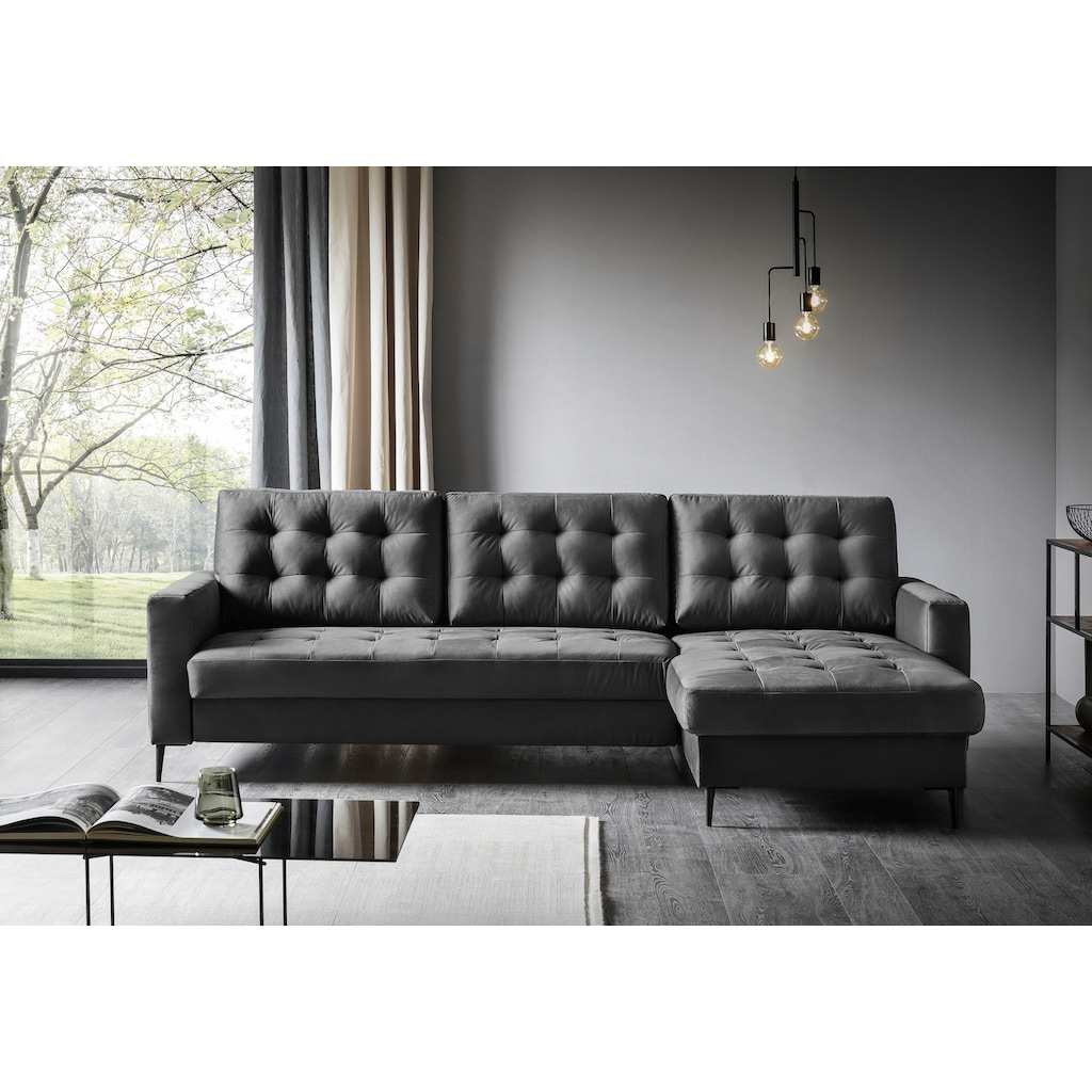 Places of Style Ecksofa »Fontana«, wahlweise mit Bettfunktion