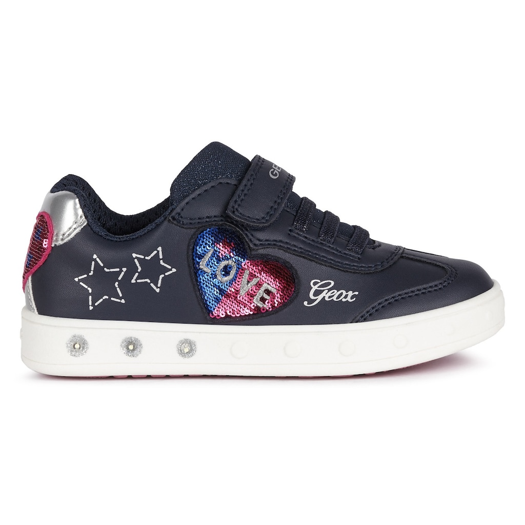 Geox Kids Sneaker »Blinkschuh SKYLIN GIRL«, mit süßer Herz-Applikation