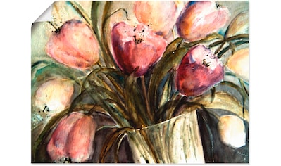 Artland Wandbild »Lila Tulpen in Vase« kaufen