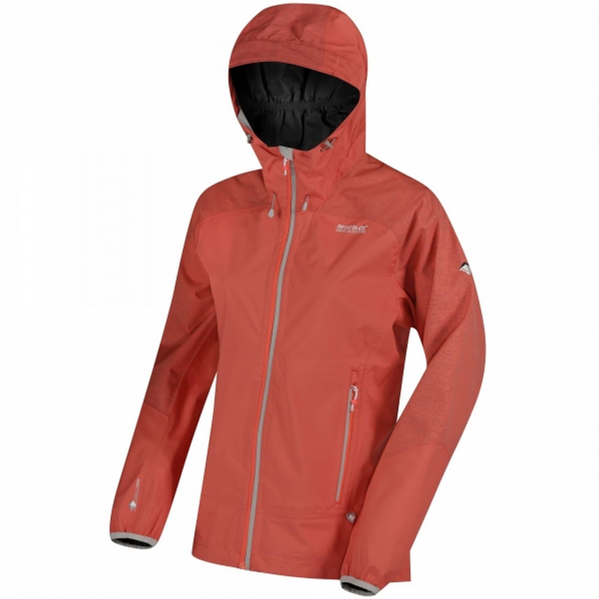 Regatta Allwetterjacke Damen Jacke Montegra, mit Kapuze, wasserfest rot Outdoorbekleidung