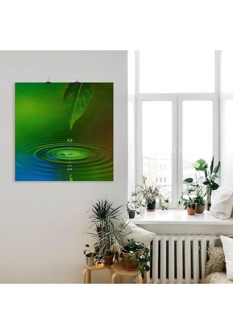 Artland Wandbild »Wassertropfen«, Zen, (1 St.), in vielen Größen & Produktarten -... kaufen
