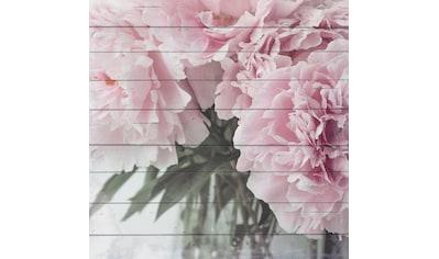 queence Holzbild »Zarte Blüten«, 40x40 cm kaufen