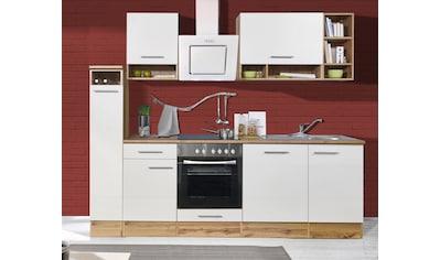RESPEKTA Küchenzeile »Lübeck«, mit E-Geräten, Breite 250 cm kaufen