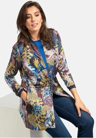 Emilia Lay Klassische Bluse »Blusenjacke«, mit Blätter-Print kaufen