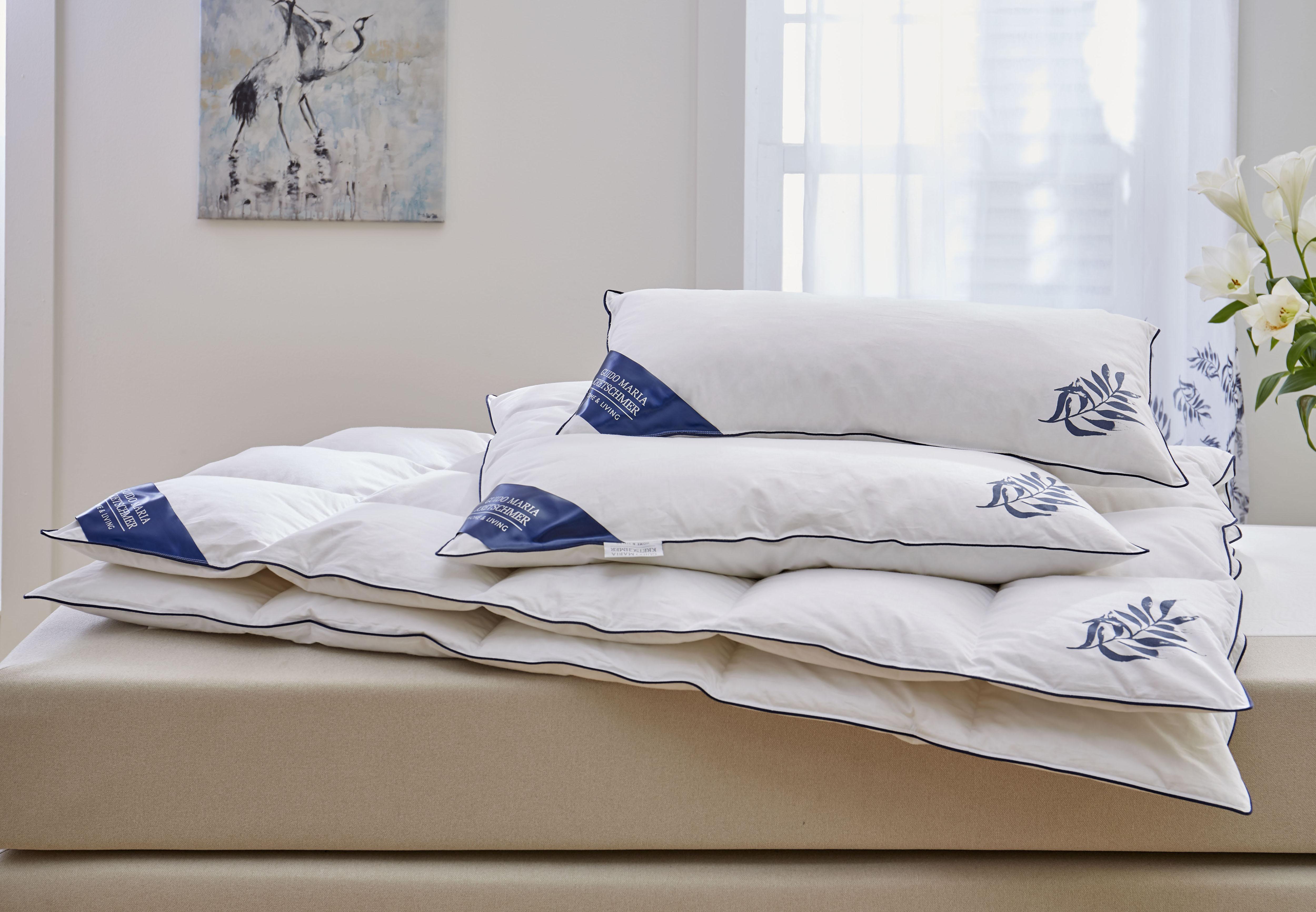 Daunenbettdecke + Kopfkissen Jasmin Guido Maria Kretschmer Home&Living leicht (Set)