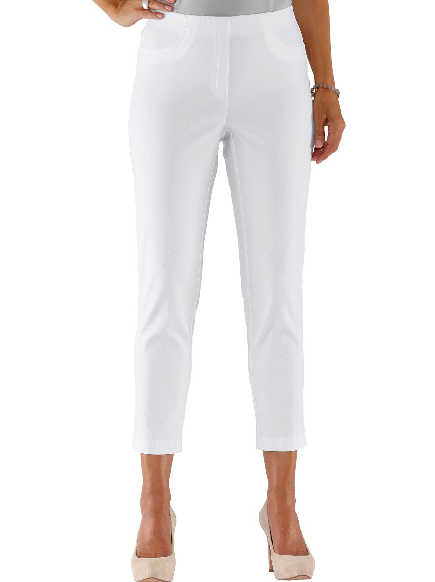 Lady 7/8-Hose in hochwertiger Bengalin-Qualität | Bekleidung > Hosen > 7/8-Hosen | Weiß | Lady