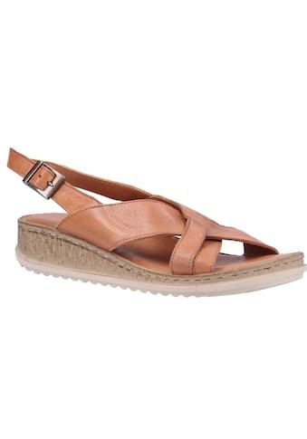 Hush Puppies Sandalette »Damen Elena Keil Ledersandale« kaufen