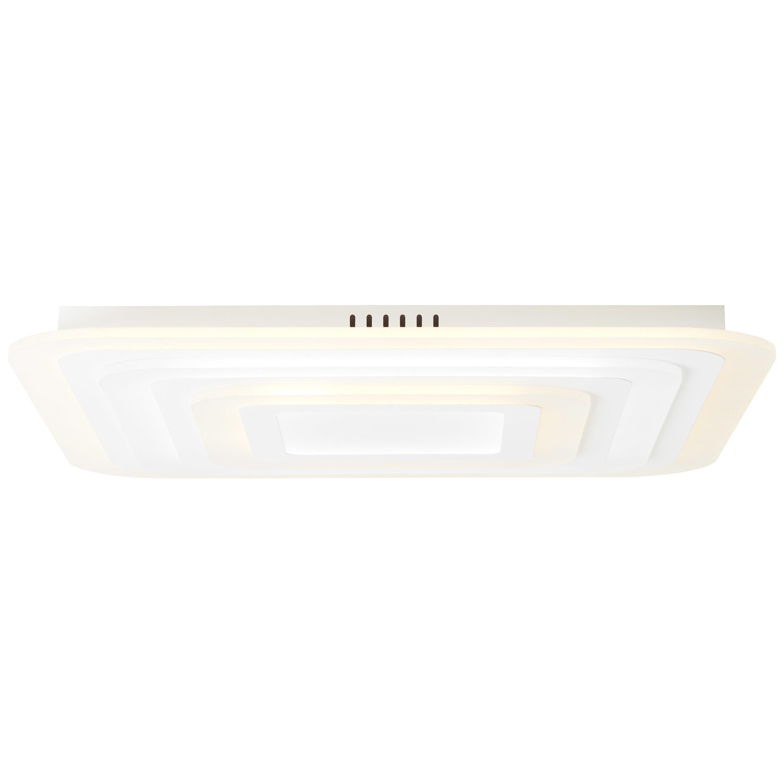 Brilliant Leuchten Selenis LED Deckenleuchte 70x70cm weiß matt