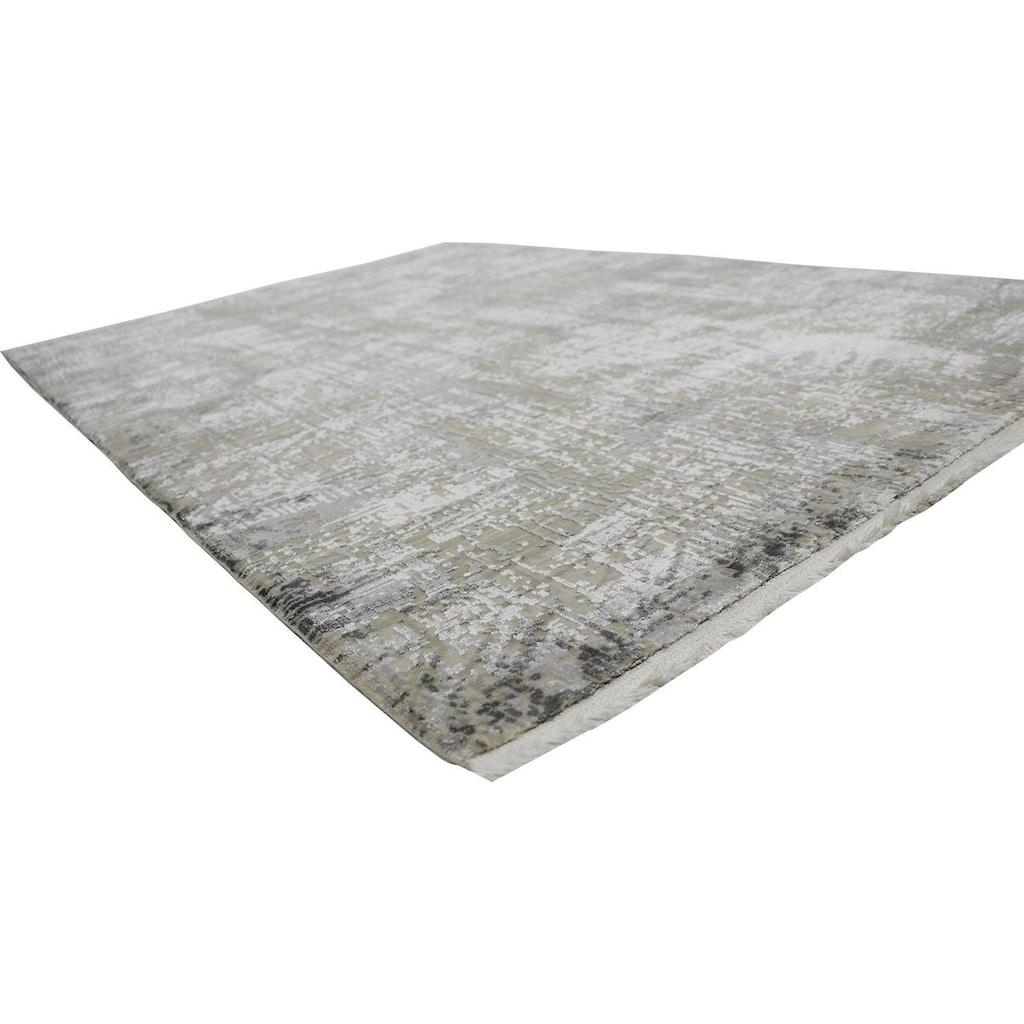 RESITAL The Voice of Carpet Teppich »Couture 100«, rechteckig, 8 mm Höhe, Kurzflor mit Hoch-Tief-Struktur, Wohnzimmer