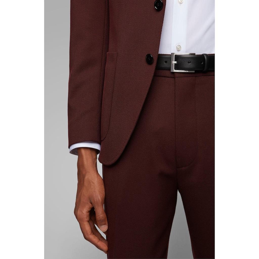 Boss Ledergürtel, aus Nappaleder