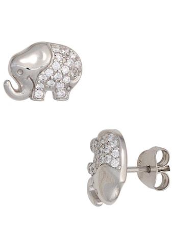 JOBO Paar Ohrstecker »Elefant«, 925 Silber mit Zirkonia kaufen