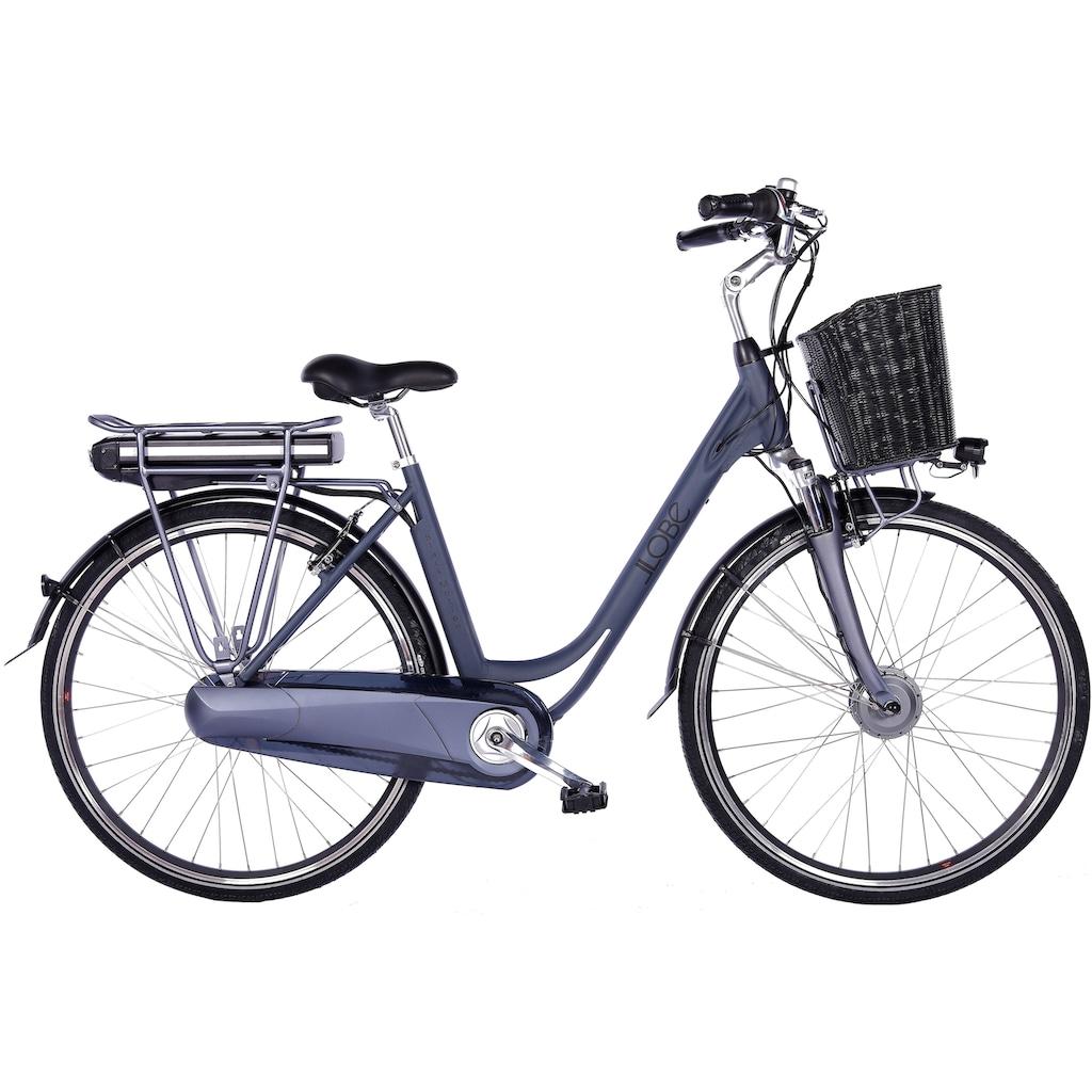 LLobe E-Bike »Black Motion 2.0, 15,6Ah«, (mit Fahrradkorb)
