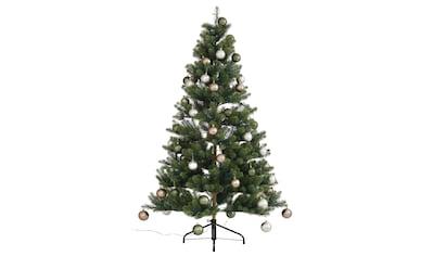Künstlicher Weihnachtsbaum »Fertig geschmückt«, mit 60 Kugeln und LED Beleuchtung kaufen