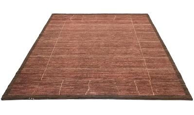 morgenland Wollteppich »Loribaft Teppich handgeknüpft lachs«, rechteckig, 18 mm Höhe,... kaufen