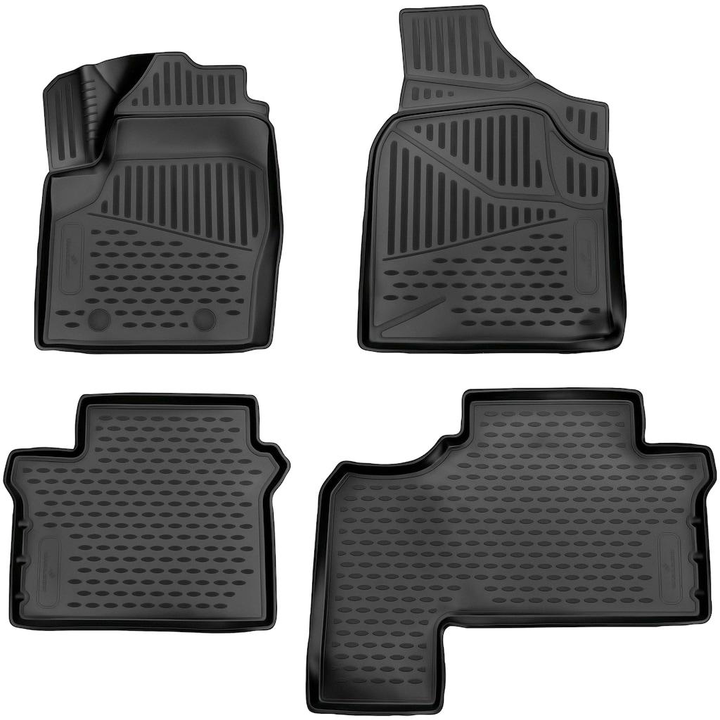 WALSER Passform-Fußmatten »XTR«, VW, Sharan, Großr.lim., (4 St., 2 Vordermatten, 2 Rückmatten), für VW Sharan BJ 1995 - 2010
