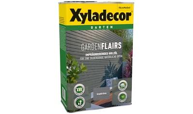 Xyladecor Ölfarbe »Garden Flairs«, für Gartengestaltung, graphit grau, 0,75 l kaufen