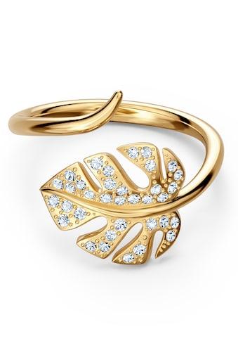 Swarovski Fingerring »Tropical Leaf, weiss, vergoldet, 5535563, 5519257, 5535560« kaufen