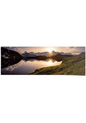 Reinders! Poster »Bergsee Sonnenuntergang«, (1 St.) kaufen
