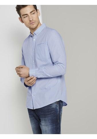 TOM TAILOR Langarmhemd »Hemd mit Leistentasche im Slim Fit« kaufen