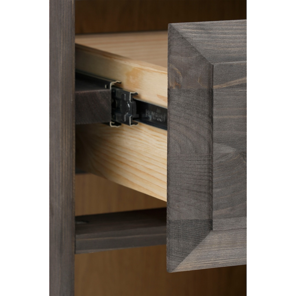 "Home affaire Regal »Ance«, Regal ""Ance"" aus Kiefer und Eiche massiv, Höhe 184 cm"