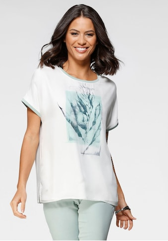 GERRY WEBER Rundhalsshirt, Vorderteil effektvoll bedruckt und zweilagig kaufen