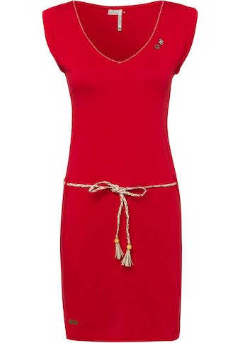 Ragwear Jerseykleid »SLAVKA«, (2 tlg., mit abnehmbarem Gürtel), mit umgekrempelten... kaufen