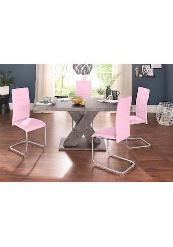 INOSIGN Essgruppe, (Set, 5 tlg.), mit 4 Stühlen und Tisch in Zement-Optik kaufen