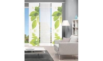 Vision Schiebegardine »LEFANO 3er SET«, Bambus-Optik, Digital bedruckt kaufen
