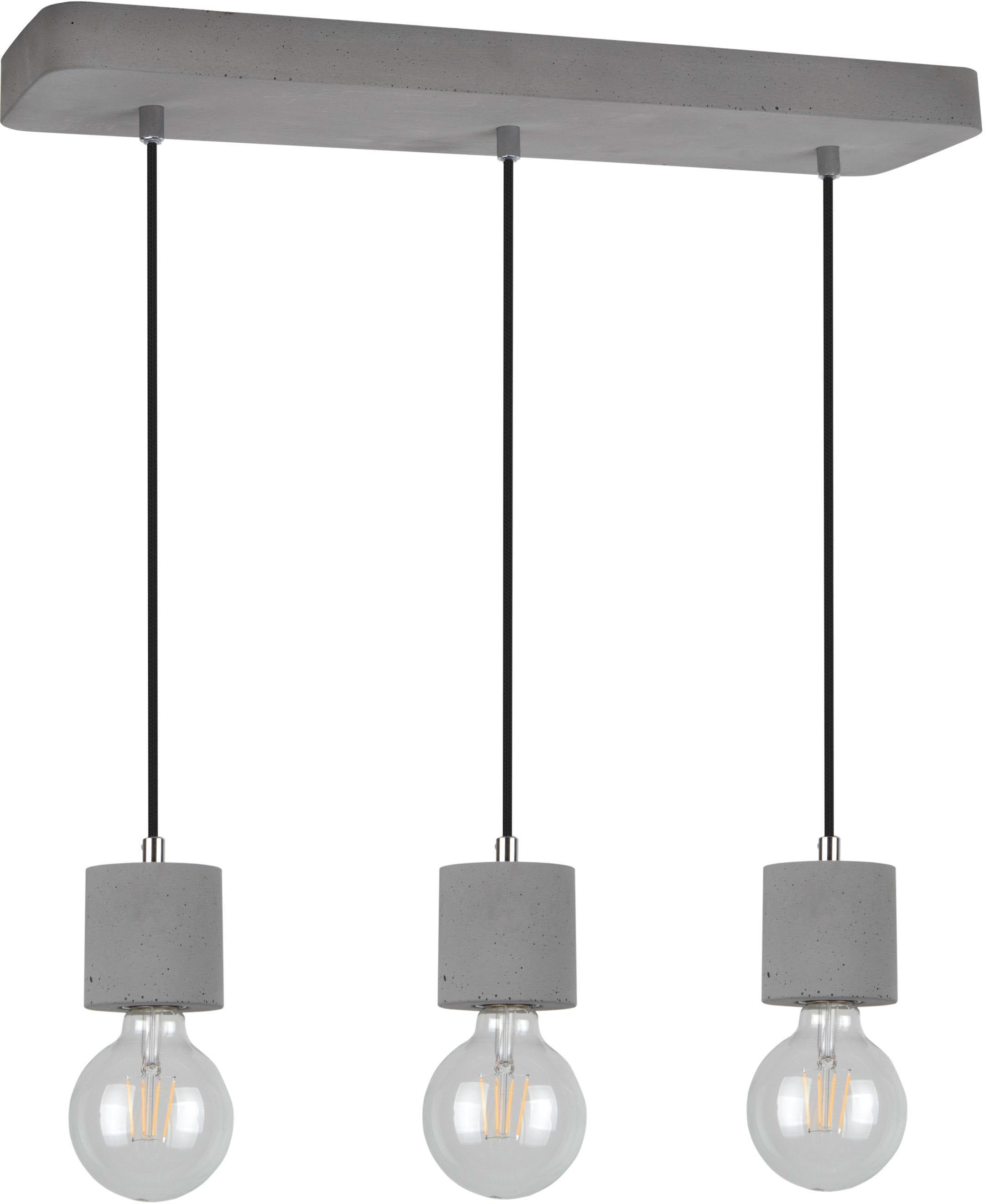 SPOT Light Pendelleuchte STRONG, E27, Hängeleuchte, Moderne Leuchte aus echtem Beton, mit Textilkabel, Kürzbar, Passende LM E27, Made in Europe
