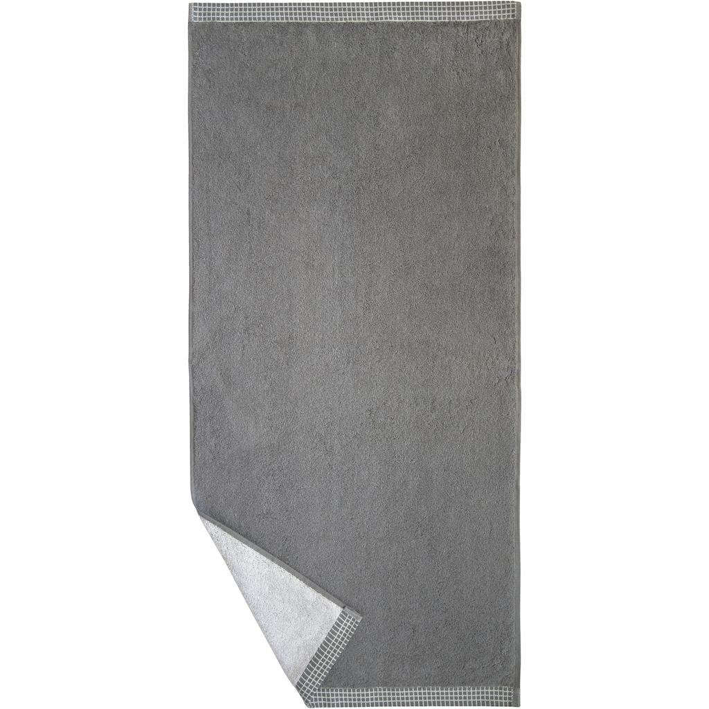 Dyckhoff Duschtuch »Kachel«, (1 St.), mit gemustertem Saumabschluss
